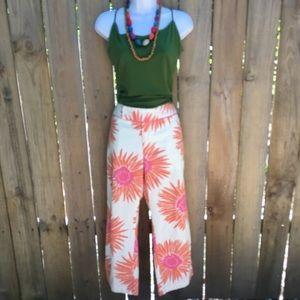 Tommy Hilfiger Bold Floral Cropped Pants EUC sz 10
